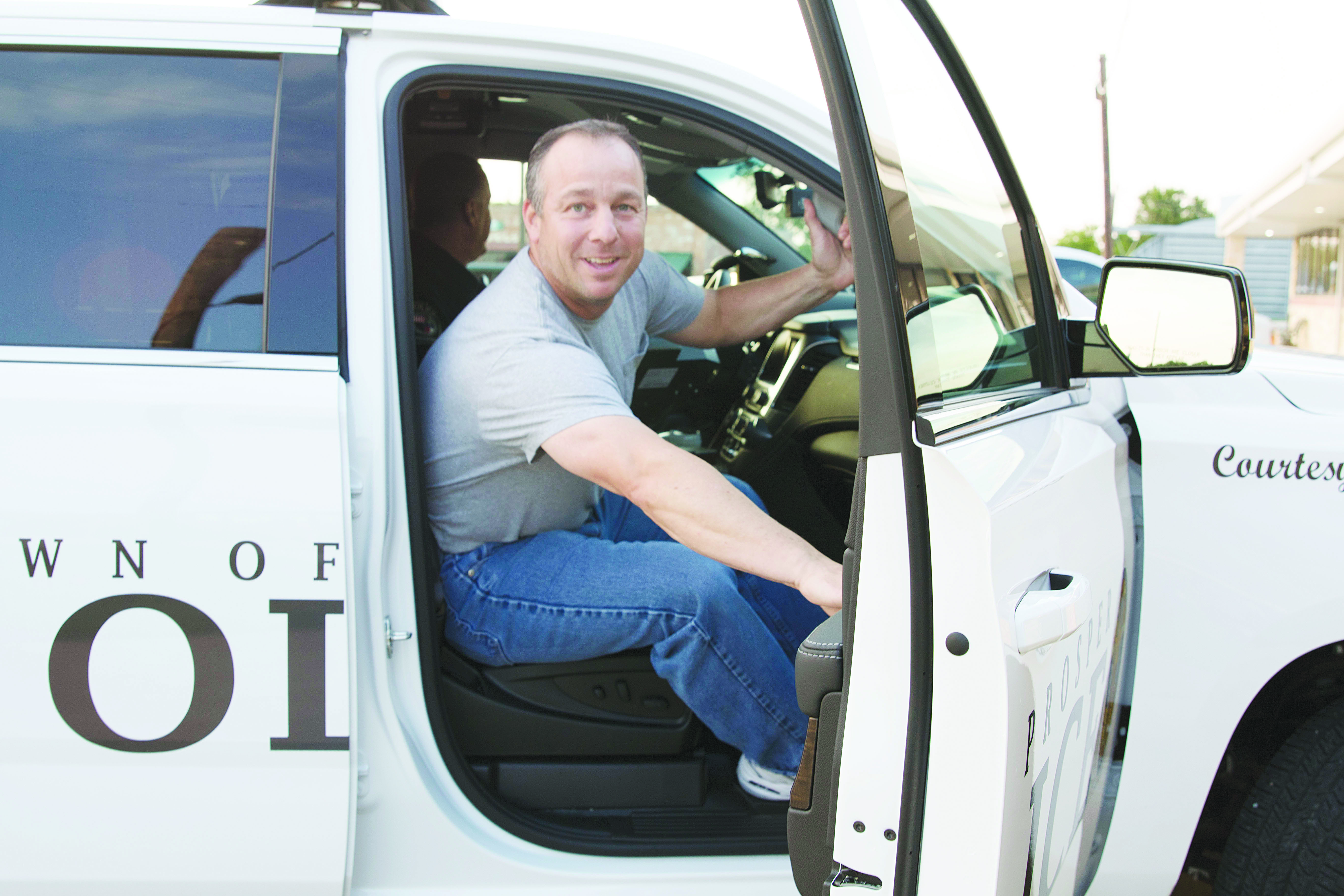 Councilor rides with police