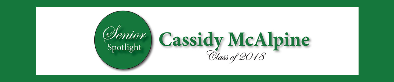 Senior Spotlight – Cassidy McAlpine