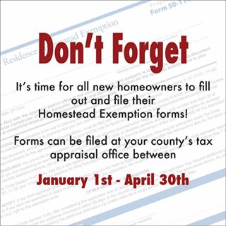 Have You Filed Your Homestead Exemption? Town Officials Encourage Residents to Take Advantage of this Deduction!