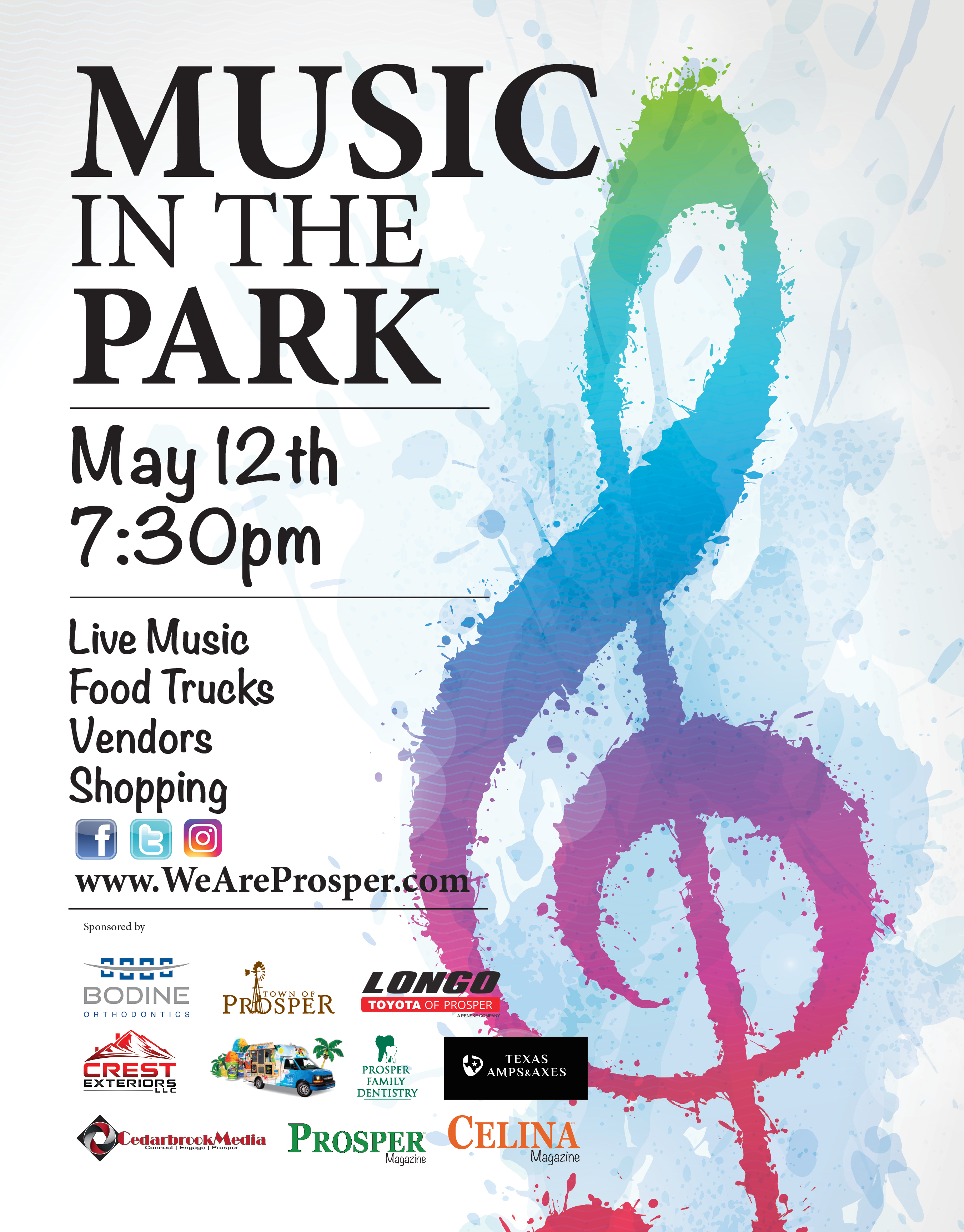 Music in the Park – Rescheduled for May 12th!!