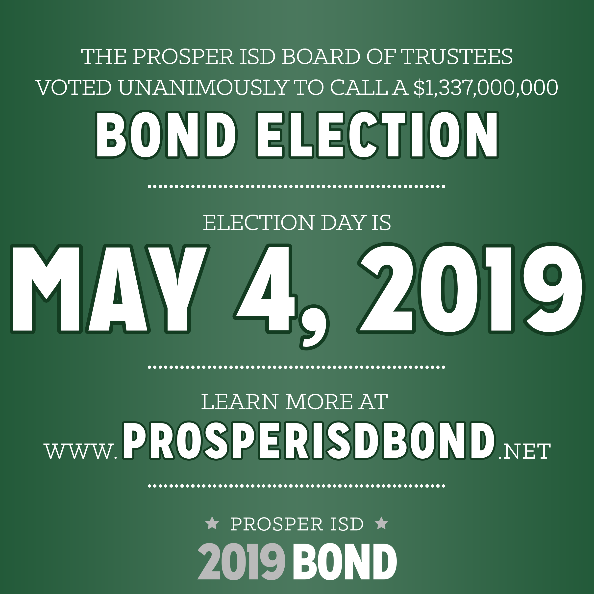 Prosper ISD School Board Calls for a Bond Election