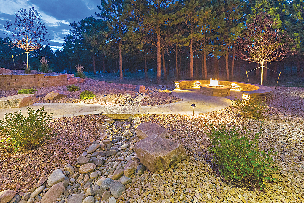 Incorporating Natural Creek Beds for Drainage